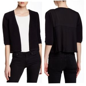 M French Connection Black Back Pleat Cardigan